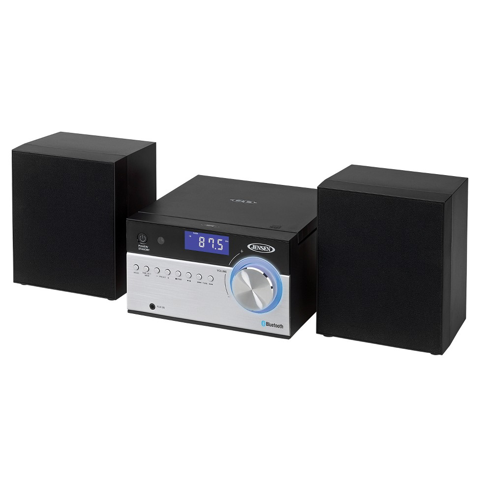 Jensen Bluetooth CD Music System with Digital AM/FM Stereo Receiver, Nfc, Aux-in, Remote (Jbs-200), Black