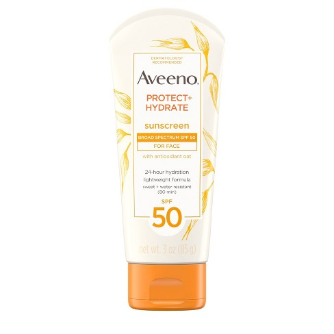 Aveeno Protect Hydrate Face Sunscreen Lotion With - SPF 50 - 3oz - image 1 of 10