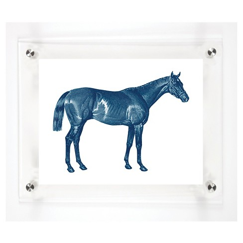 """Mitchell Black Thoroughbred Decorative Framed Wall Canvas Midnight (12""""x15"""") - image 1 of 1"""