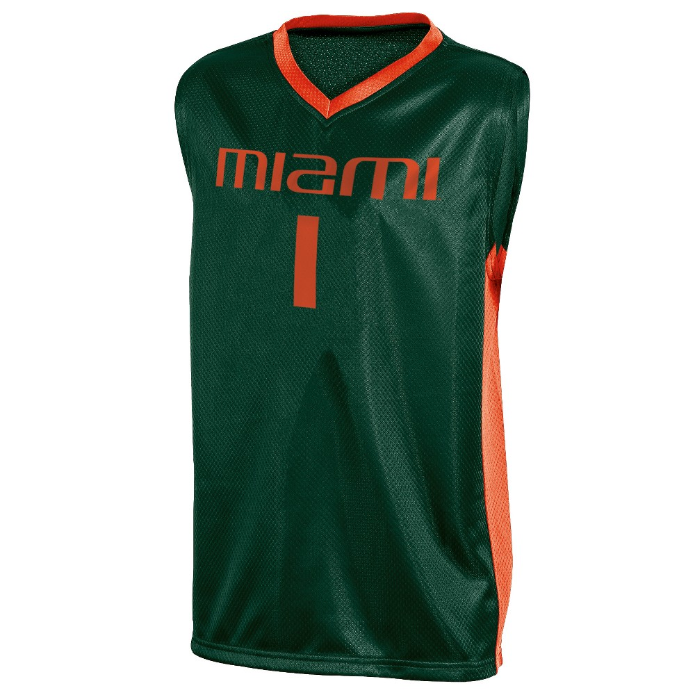 Miami Hurricanes Boys' Basketball Jersey XS, Multicolored