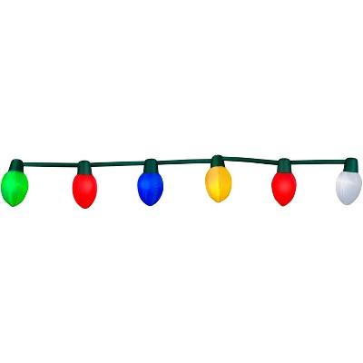 Gemmy Light Show Christmas Airblown Inflatable Christmas Decor Light Bulb S/6 (Multi), 2 ft Tall