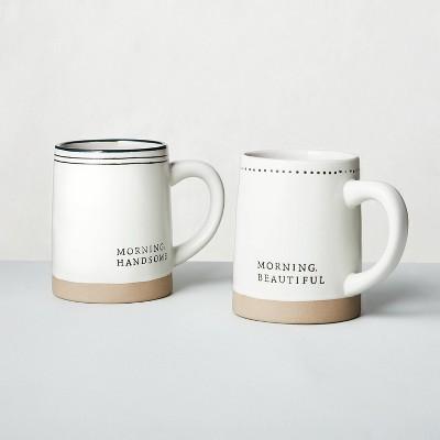 2pk 'Morning Handsome' + 'Morning Beautiful' Stoneware Mug Set - Hearth & Hand™ with Magnolia
