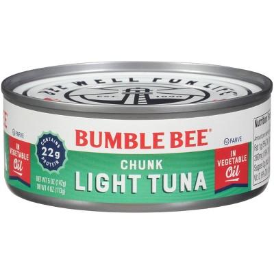 Bumble Bee Chunk Light Tuna in Vegetable Oil - 5oz