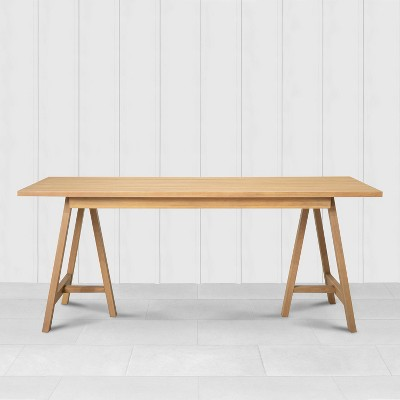 Rectangle Patio Dining Table Natural - Hearth & Hand™ with Magnolia