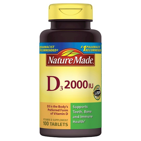 Nature Made Vitamin D3 Dietary Supplement Tablets - image 1 of 1