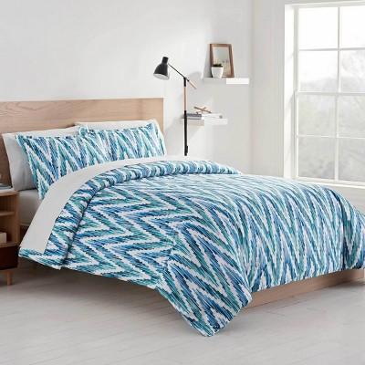 Color Solutions Watercolor Chevron Comforter Set - Martex