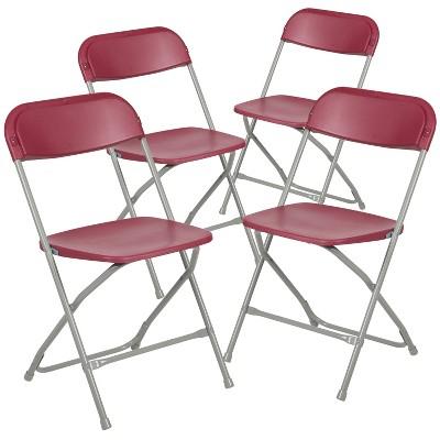 Flash Furniture Hercules™ Series Plastic Folding Chair - 4 Pack 650LB Weight Capacity