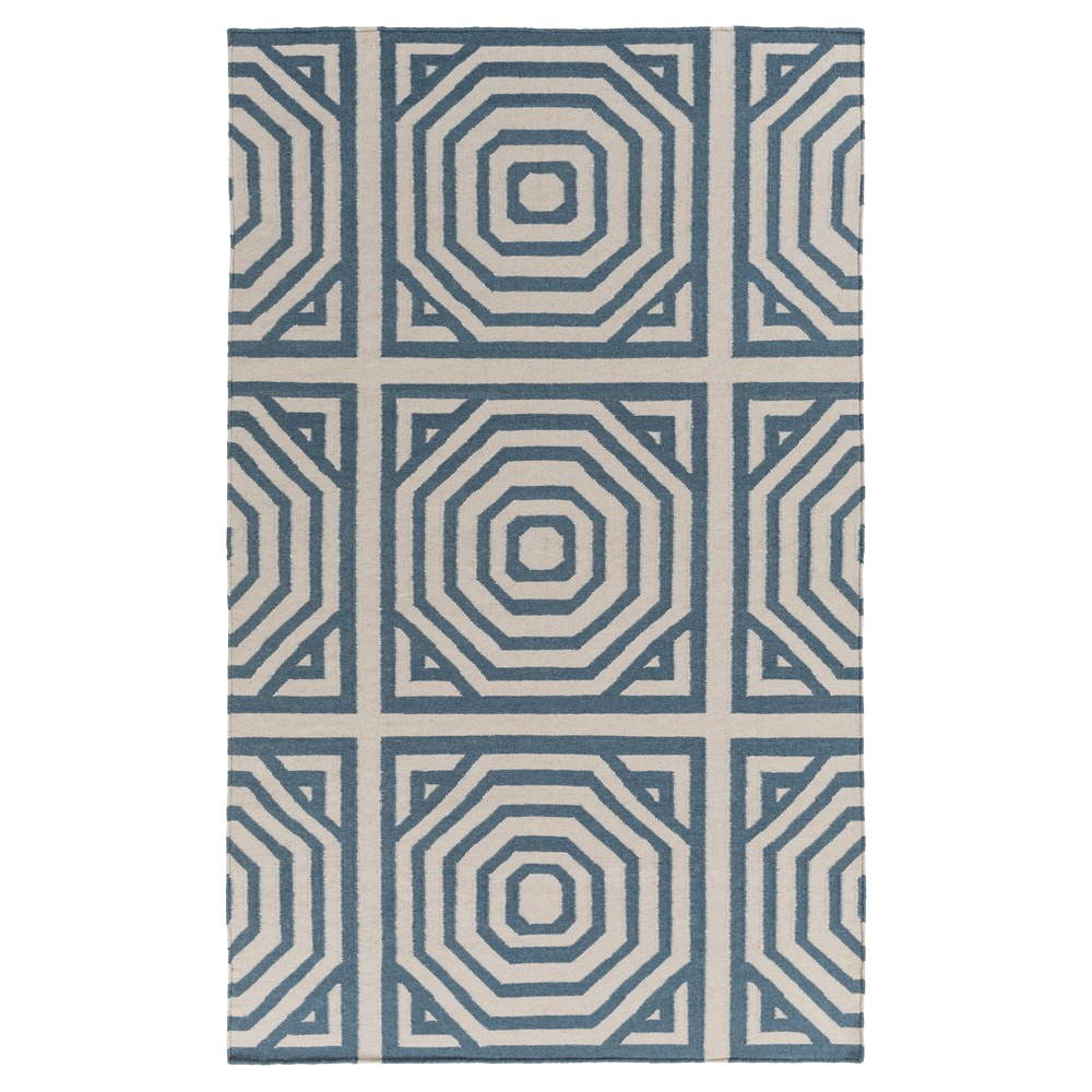 Navy (Blue) Solid Woven Accent Rug - (4'X6') - Surya