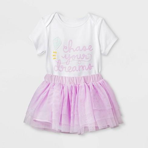 6e12e30abc9d Baby Girls  Short Sleeve Bodysuit And Mesh Tutu Set - Cat   Jack ...
