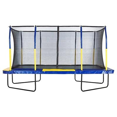 Upper Bounce Easy Assemble Mega 9' X 15' Recountangular Trampoline with Fiber Flex Enclosure System