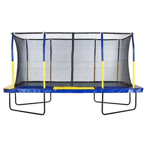 Upper Bounce® Easy Assemble Mega 9' X 15' Recountangular Trampoline with Fiber Flex Enclosure System - image 1 of 7