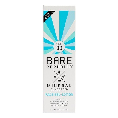 Bare Republic Mineral Face Gel Sunscreen Lotion - SPF 30 - 1.7 fl oz