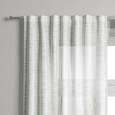 Striation Herringbone Light Filtering Window Curtain Panel - Project 62™
