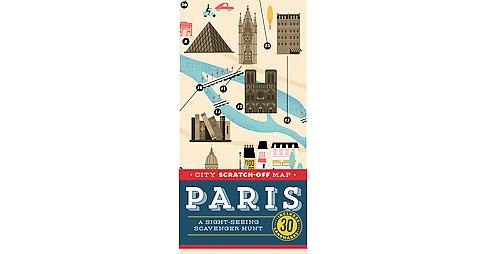 City Scratch-Off Map Paris : A Sight-Seeing Scavenger Hunt, Includes 30 Landmarks (Paperback) (Christina - image 1 of 1