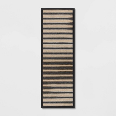 Vintage Striped Rug Black/Brown - Threshold™