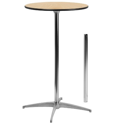 Dining Table with 2 Columns Natural - Riverstone Furniture