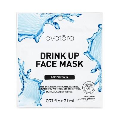 Unscented Avatara Drink Up Face Mask For Dry Skin - 0.71 fl oz