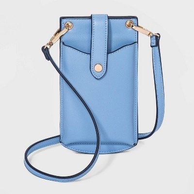 Snap Zip Closure Crossbody Bag - A New Day™ Blue