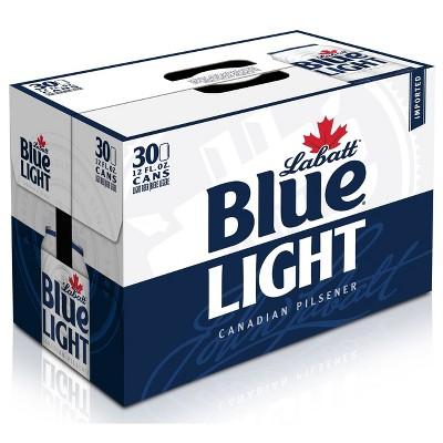 Labatt Blue Light Canadian Pilsener Beer - 30pk/12 fl oz Cans