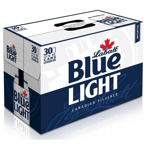Labatt Blue Light Canadian Pilsner Beer - 30pk/12 fl oz Cans - image 1 of 2