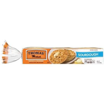 Thomas' Sourdough English Muffins - 12oz/6ct