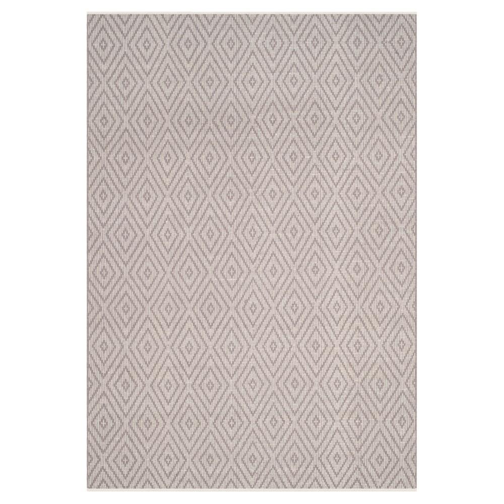 Gray/Ivory Diamond Flatweave Woven Area Rug 6'x9' - Safavieh