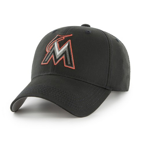 7821d97e519 MLB Miami Marlins Classic Black Adjustable Cap Hat By Fan Favorite   Target