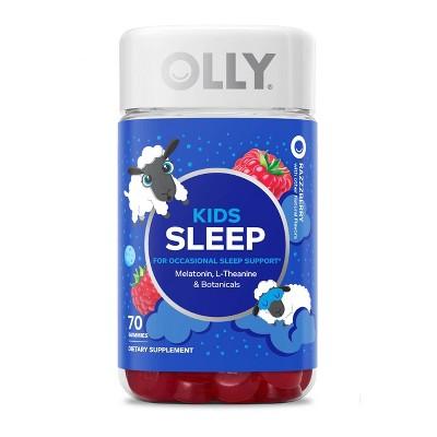 OLLY Kids 0.5 Melatonin Sleep Support Gummies - Raspberry - 70ct