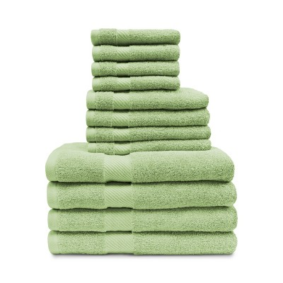 Modern Eco-Friendly Cotton Absorbent 12-Piece Assorted Towel Set - Blue Nile Mills