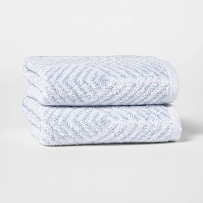 2pk Chevron Hand Towel Set - Threshold™