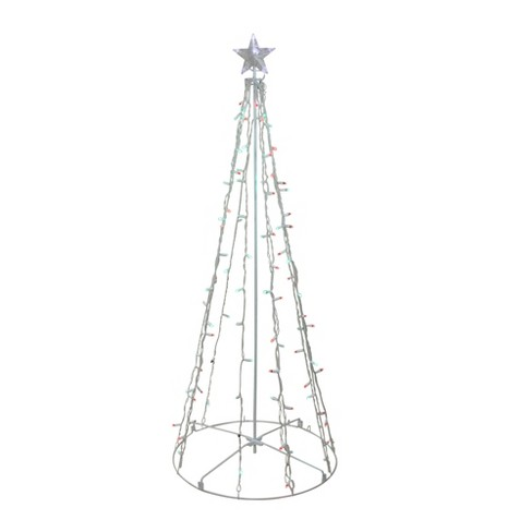 Northlight 5' Red and Green LED Lighted Twinkling Christmas Tree Outdoor Decoration - image 1 of 2