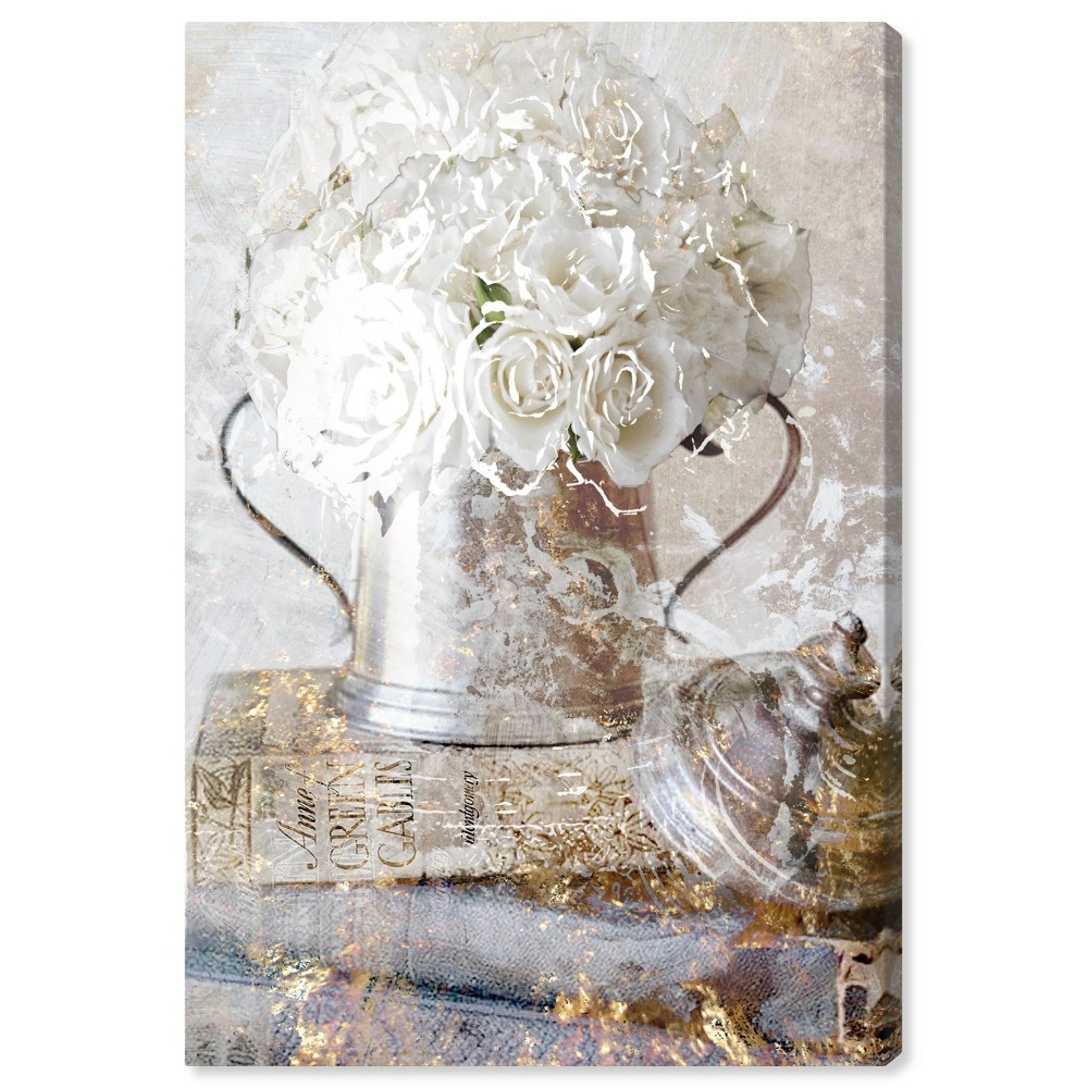 Image of 10'' x 15'' Romantic Roses Unframed Wall Canvas White - Oliver Gal