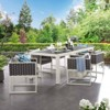 Stance 7pc Aluminum Patio Dining Set Gray - Modway - image 2 of 3