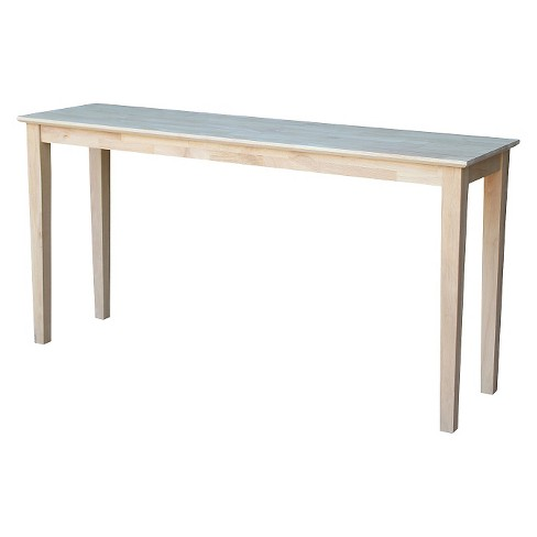 Shaker Extended Length Console Table - International Concepts - image 1 of 6