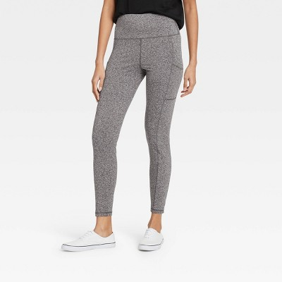 Women's High-Waist Stash Pocket Leggings - A New Day™ Gray