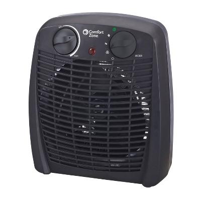 Comfort Zone Heater Fan 1500W Energy Save Black