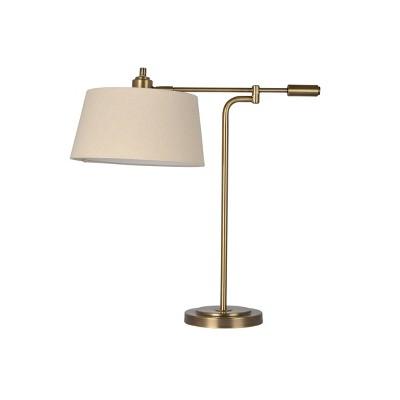 Farmhouse Swing Arm Table Lamp Brass - Threshold™