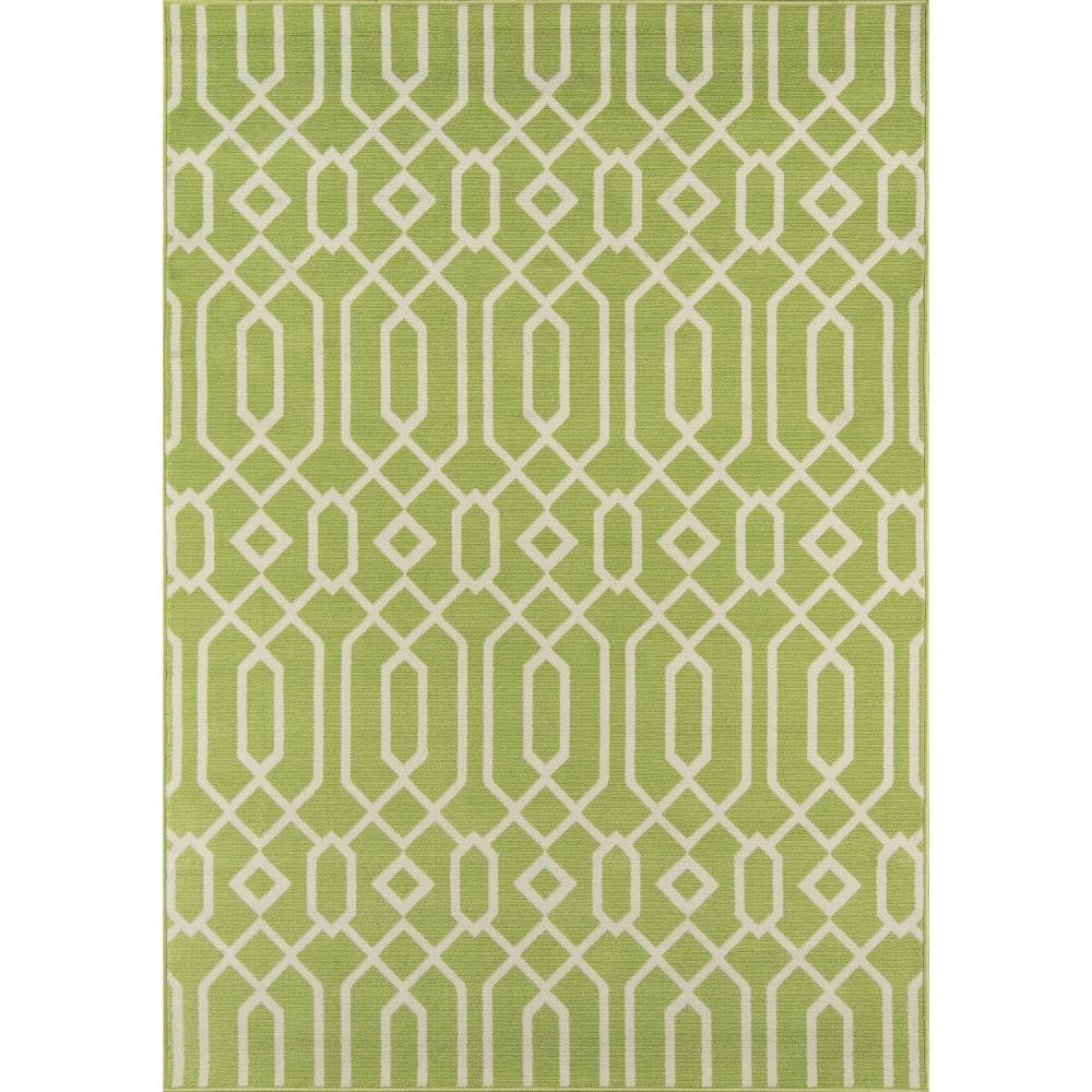Indoor/Outdoor Lattice Accent Rug - Green (3'11