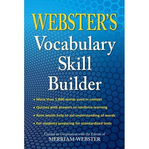 Webster's Vocabulary Skill Builder - by  Merriam-Webster (Paperback) - image 1 of 1