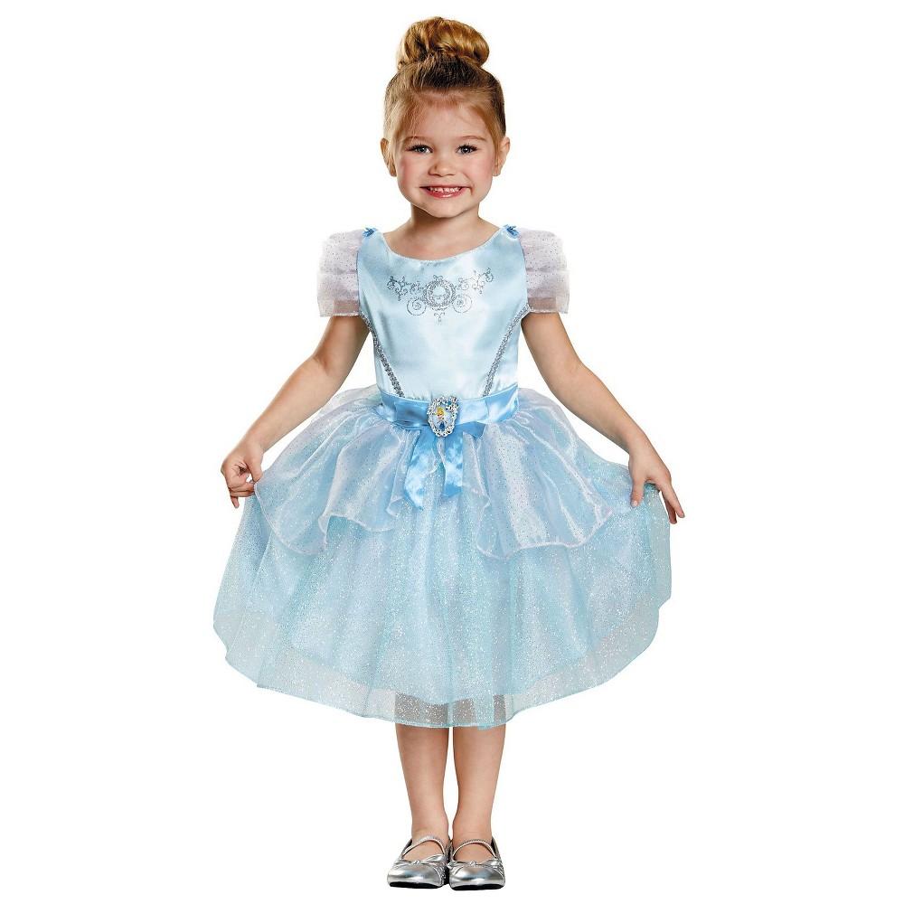 Disney Princess Girls' Cinderella Classic Costume - Small (4-6), Size: S(4-6), Blue
