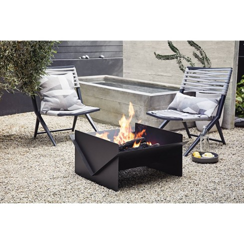 Flat Pack Wood Burning Outdoor Fire Pit Black Project 62 Target