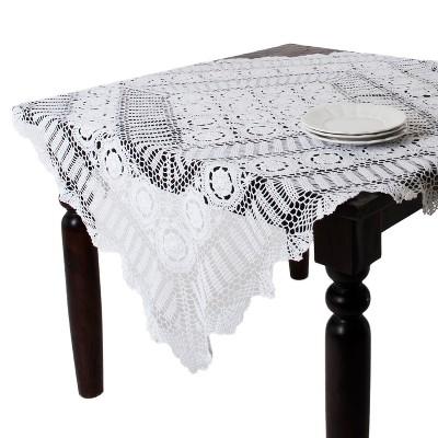 Saro Lifestyle Handmade Crochet Cotton Lace Table Linens