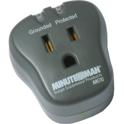 Minuteman MMS Series Single Outlet Surge Suppressor - Receptacles: 1