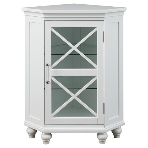 Floor Cabinet with 2 Shelves White - Elegant Home Fashions - image 1 of 4