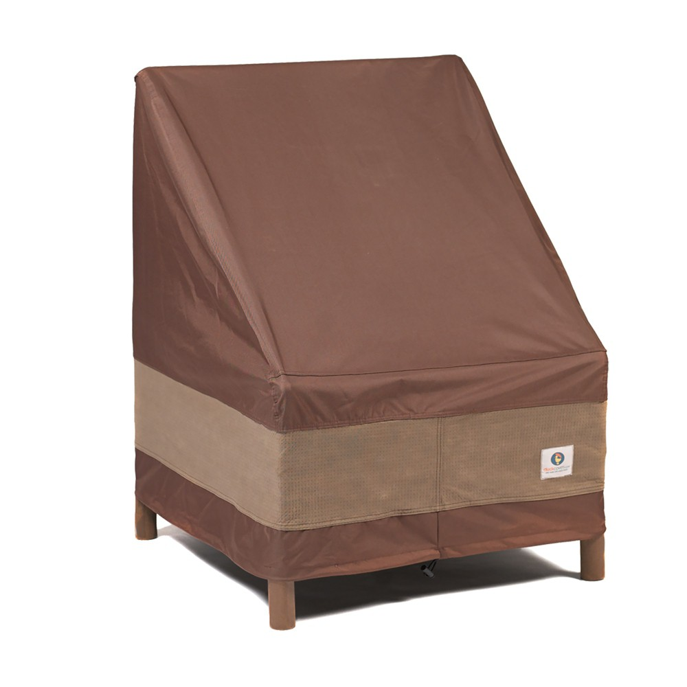 "Image of ""28""""W Ultimate Stackable Patio Chair Cover Mochaccino - Classic Accessories"""