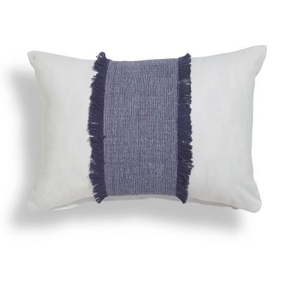 "14""x20"" Arjin Fringe Colorblock Throw Pillow - Sure Fit"
