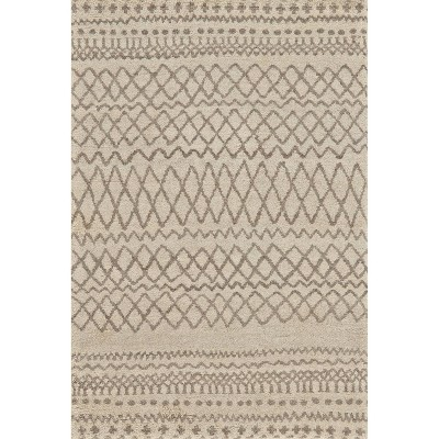 2'x3' Geometric Design Knotted Accent Rugs Natural/Ivory - Weave & Wander