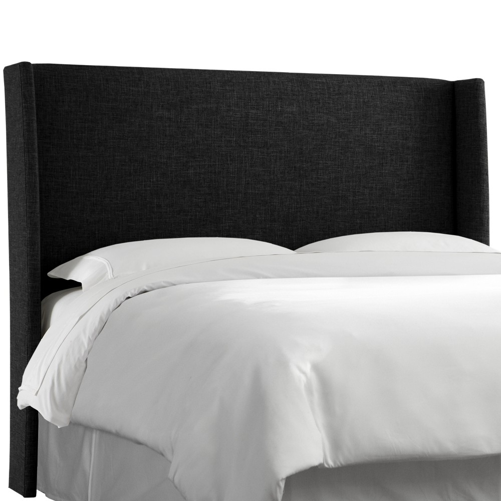 Full Antwerp Wingback Headboard Black Linen - Project 62