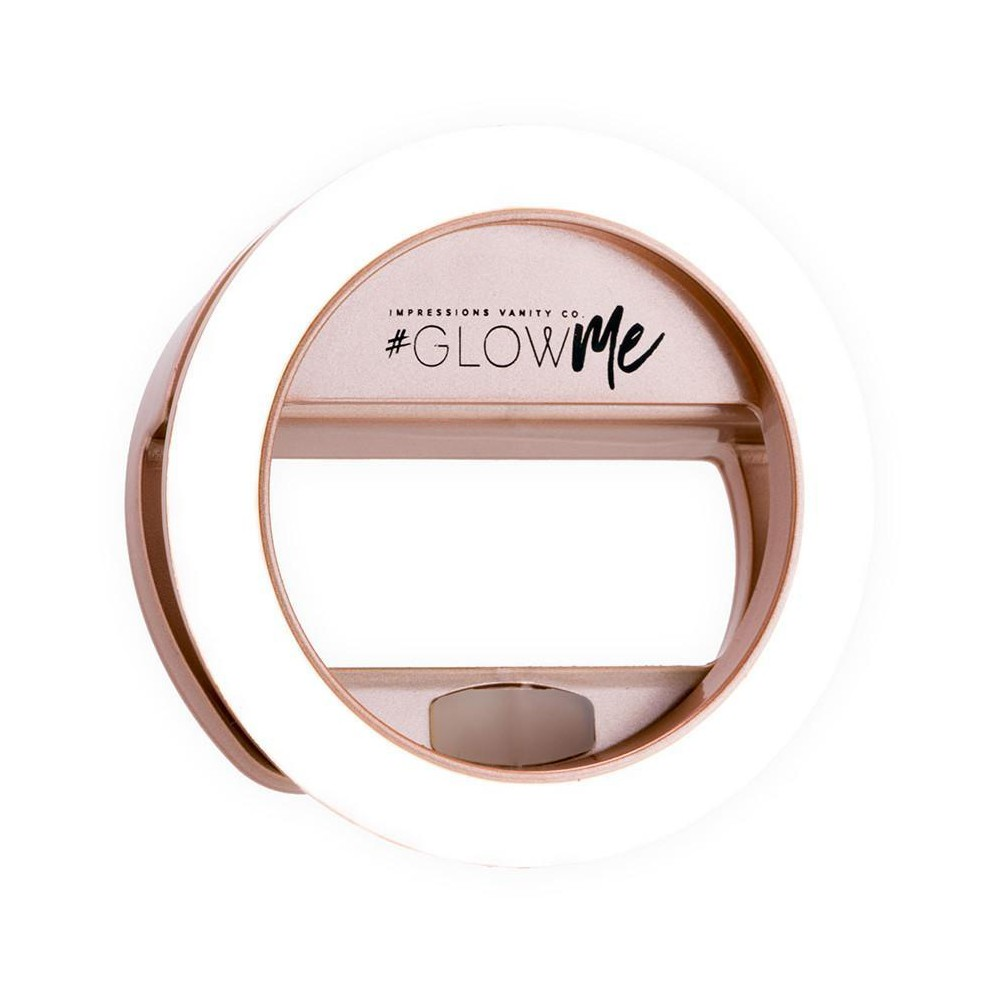 Image of Impressions Vanity GlowMe 2.0 LED Selfie Ring Light - Rose Gold, Pink Gold