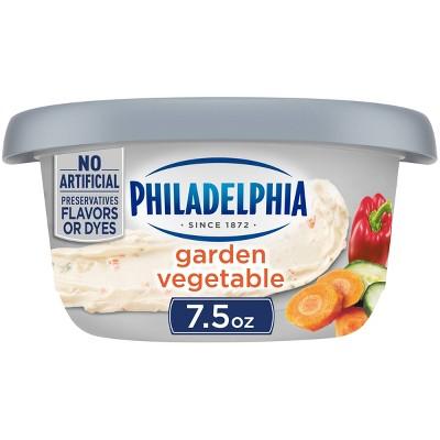 Philadelphia Regular Garden Vegetable Cream Cheese Tub - 7.5oz